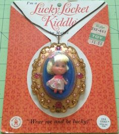 MATTEL: 1966 Lucky Locket Kiddle ~ I loved these!