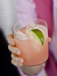Barefoot Contessa -Pink Grapefruit Margaritas  1 lime cut in wedges, optional   Kosher salt, optional   1 cup ruby red grapefruit juice   ½ cup freshly squeezed lime juice (4 limes)   1 cup triple sec orange liqueur   3 cups ice   1 cup white tequila   YUM!