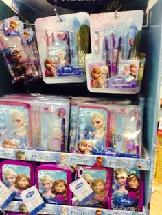 The Card Shop - Frozen stationary sets : Pens, crayons and stickers Pencil case, pencils, ruler and sharpener Cork City, Stationary Set, Gifts Under 10, Crayons, Kids Gifts, Ruler, Pens, Lunch Box, Frozen