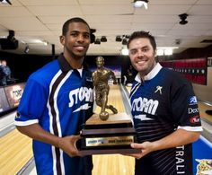Chris Paul and IAB's very own Jason Belmonte with their 2009 Chris Paul PBA Celebrity Invitational trophy!