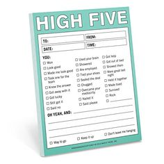 Knock Knock High Five Nifty Note Pad Knock Knock https://smile.amazon.com/dp/1601061870/ref=cm_sw_r_pi_dp_x_8T5Lyb33Z4Z8Q