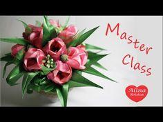 Тюльпаны из атласной ленты - YouTube