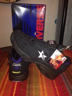 THOSE WOULD BE A WONDERFUL  POSSESION 90`S VINTAGE CONVERSE CONS REACT RUN N SLAM KEVIN JOHNSON BASKETBALL SHOES
