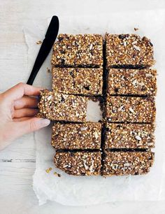 / raw granola bars