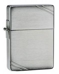 Zippo Lighter - 1935 Replica Brushed Chrome