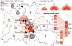 Salafistenszene in Berlin Aktuelle Studie zum Thema Salafisten in Berlin. Wo sie wohnen, herkommen und wie viele es sind. #Salafisten #Berlin #Islamismus #Moschee Erschienen in der Berliner Morgenpost  Infografi: C. Schlippes