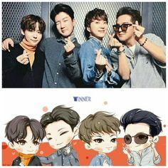 Winner fanart ☺☺ #kangseungyoon #kimjinwoo #leeseunghoon #songmino #winner #fanart