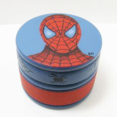 Spiderman Trinket Box Personalized Hand by paintingfromtheheart, $16.00