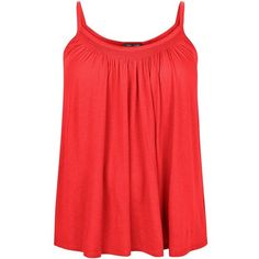 Plus Size Dark Red Shirred Trim Cami ($11) ❤ liked on Polyvore featuring women's fashion, tops, dark red, cami tank, plus size cami, camisoles & tank tops, red camisole and plus size tank tops