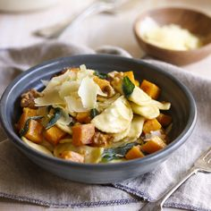 Spinach & Ricotta Agnolotti with Roast Pumpkin, Walnuts and Sage