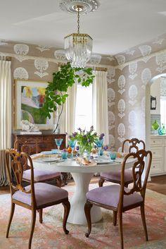 Room Interior Design, Dining Room Design, Interior Decorating, Interior Livingroom, Cottage Dining Rooms, Living Rooms, Of Wallpaper, Soft Furnishings, Room Decor