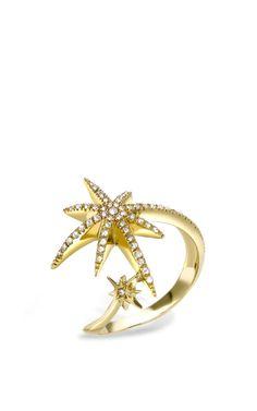 Yellow Gold Meteoryx Ring by Venyx on Moda Operandi
