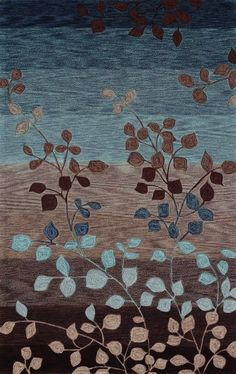 Love Love Love these colors together! This is a area rug, but I'd love to have my bedroom in these colors.