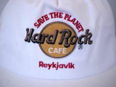 Vintage RARE HARD ROCK CAFE Reykjavik ICELAND Classic Cap Hat One Size Adjust