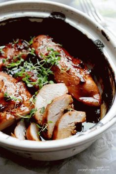 breast of chicken in sauce