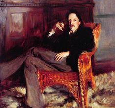 """""""Robert Louis Stevenson""""  John Singer Sargent"""