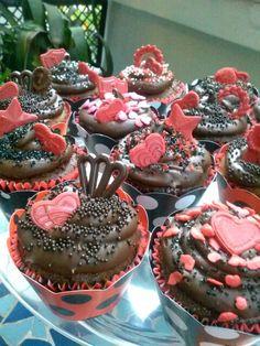 Cupcakes Rubro negros