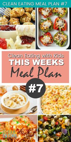 Clean Eating with Kids Family Meal Plan # 7 Need some fast & healthy meal ideas? Clean Eating Meal Plan Get your family eating healthy. See all Recipes & Mealplans from Clean Eating with Kids Clean Eating Kids, Clean Eating For Beginners, Clean Eating Meal Plan, Clean Eating Dinner, Clean Eating Snacks, Eating Healthy, Eating Habits, Healthy Cooking, Beginners Diet