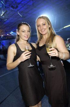 La Disco Du Cirque Ball, Trust Stadium, L to R, Heidi Roberts and #Libby #Jeyes
