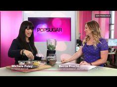 A Debloating Smoothie Recipe to Help You Get Bikini-Ready: Kale Pineapple Blueberries Almond butter Greek yogurt  Water or ice