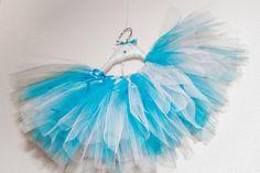 Blue & White girls TuTu Skirt with ribbon by CrazySmykker on Etsy, kr150.00