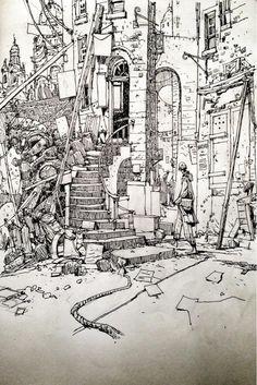 "Ian McQue auf Twitter: ""Sketchbook: Cowgate. http://t.co/exKWKxrDAf"""
