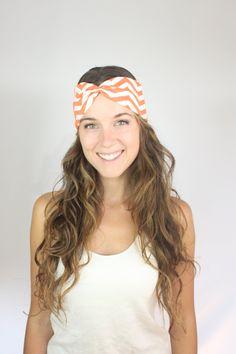 Chevron Turban Headband in Coral Rouge Organic by EnterTheSun