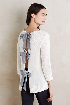 bow-back pullover sweater