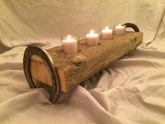 A great piece to complement any decor, rustic or contemporary. The wood is nearly 100 years old with great characteristics. A striking centerpiece or conversation starter. This barn wood candle holder is sure to catch they eye of anyone! *FREE SHIPPING* in the continental U.S.