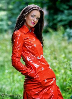 Red PVC Raincoat Dream