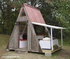 Tiny House Plans : A – Frame Vacation Cabin