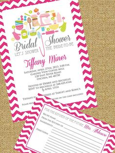 rustic stock the kitchen bridal shower party card bridal shower