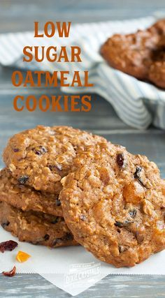 Low-Sugar Oatmeal Cookies - Looking for a tasty cookie for dessert you can feel good about? Studded with dried cranberries, apricots, and cherries, these Loaded Oatmeal Cookie sweet treats are packed with antioxidants, whole grains, and cholesterol-lowering oats. Plus they only have 1 teaspoon of sugar per cookie! Pack these in the kid's lunch boxes or bake a batch for them as an after school snack. Perfect for school parties & holiday cookie exchanges