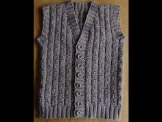 Мужской жилет спицами - Часть 1. Vest knitting for men - YouTube