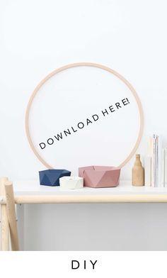 DIY Papierschalen in drei Gößen