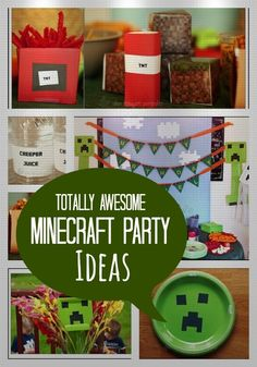 Minecraft Themed Birthday Party - www.spaceshipsandlaserbeams.com