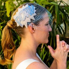 POW! birdcage veil #PerfectWedding