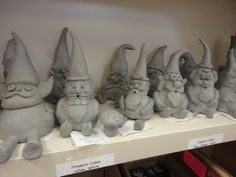 Garden Gnomes waiting to dry. @Tricia Leach Muck-alow This is perfect for you!