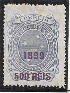 BRASIL - SELO ANO 1899 RHM 132 -CRUZEIRO DO SUL SEM CARIMBO - PEÇA EM EXCELENTE ESTADO DE CONSERVA