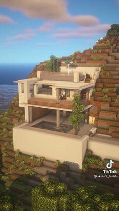 Modern Minecraft Houses, Minecraft House Plans, Minecraft Mansion, Minecraft House Tutorials, Minecraft Houses Blueprints, Minecraft House Designs, Minecraft Architecture, Minecraft Creations, Minecraft Crafts