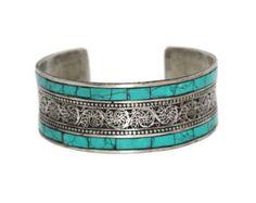 Turquoise Bracelet Turquoise cuff Bracelet Silver Bracelet Tribal Gypsy Bracelet for sale online Nepal Bracelets, Gemstone Bracelets, Silver Bracelets, Cuff Bracelets, Bangle, Silver Jewelry, Turquoise Cuff, Turquoise Jewelry, Turquoise Bracelet