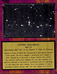 """Space Marvels - galaxies, space-power, """"my"""" asteroid. and comets. David Brin, Galaxy Space, Astronomy, Galaxies, Science Fiction, Physics, Author, Marvel, Technology"""
