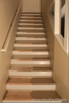 Painting Basement Stairs, Quick U0026 Inexpensive Way To Transform The Space  Before Finishing With Carpet
