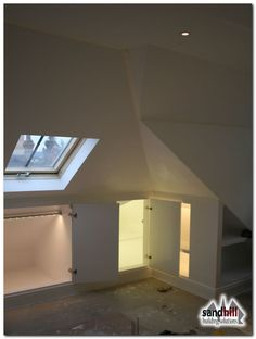 Loft conversion case study in Putney, London Front dormer loft conversion creating bedroom with ensuite. New staircase to loft. Attic Rooms, Loft Room, Bedroom With Ensuite, Bedroom Loft, Loft Spaces, Loft Conversion Bedroom, Loft Conversion Ensuite, Bedroom Storage, Urban Interiors