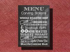 #Chalkboard #Wedding Reception #Dinner #Menu by WeddingsByJamie