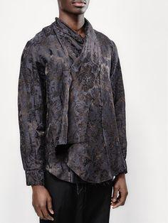 Uma Wang floral jacquard shirt