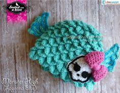 Monster High hat Lagoona Blue hat Monster by SWAKLovelyHandmade, $40.00