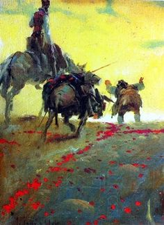 """El Quijote (ilustrado por Josep Segrelles) - """"Si los perros ladran, Sancho, es señal de que cabalgamos"""" #EsculturasMorla #Literatura #EnBabia"""