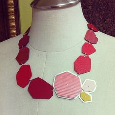 Zassdesign makes jewelry out of Formica Samples! So beautiful!