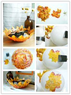How to make a Leaf Bowl...these are the BEST Fall Craft Ideas & DIY Home Decor Projects!